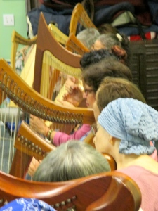 sharing harps with Cancer support group